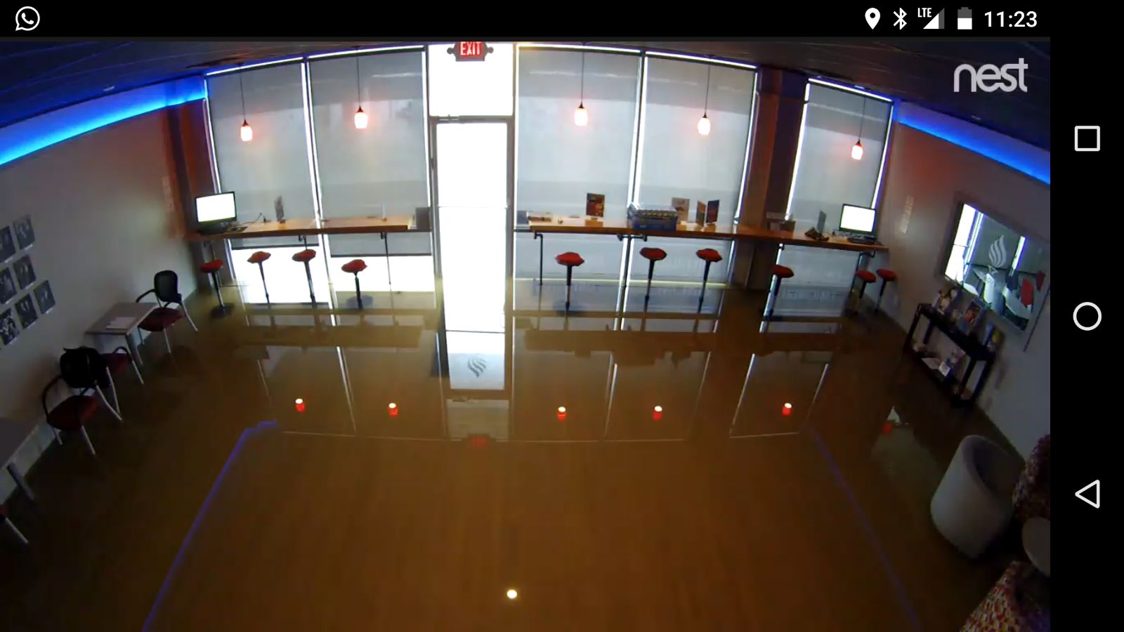 TORCH Centre security cameras capture the rising waters